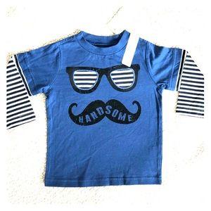 NWT Long Sleeve Handsome Mustache Tee
